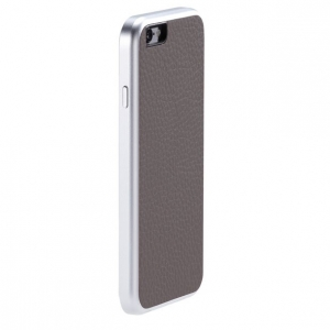 Чехол для Apple iPhone 6 Just Mobile AluFrame Leather серый