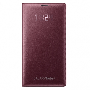Чехол-книжка Samsung LED Cover для N910 Galaxy Note 4 Red
