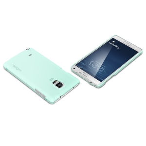 Чехол для Galaxy Note 4 Spigen Thin Fit Series мятный