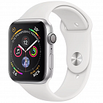 Apple Watch Series 4 GPS 44mm (Silver Aluminum Case with White Sport Band)
