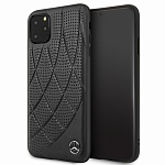 Чехол Mercedes Bow Quilted perforated Hard для Apple iPhone 11 Pro (черный)