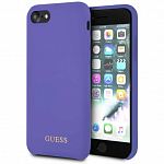 Чехол Guess для Apple iPhone 7/8 Silicone collection Gold Logo (фиолетовый)