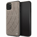Чехол Mercedes Bow Quilted perforated Hard для Apple iPhone 11 Pro (бежевый)