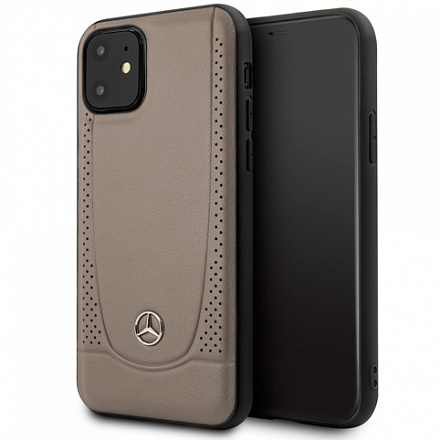 Чехол Mercedes Urban Smooth perforated Hard для Apple iPhone 11 (бежевый)