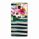 Чехол для Samsung Galaxy A5 (2016) Deppa Art Case Flowers Акварель