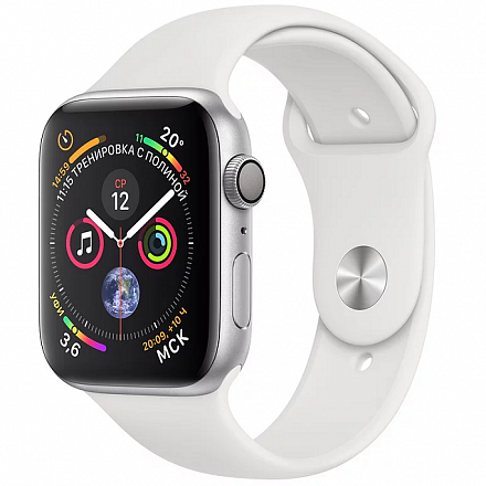 Apple Watch Series 4 GPS 40mm (Silver Aluminum Case with White Sport Band)