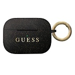 Чехол Guess Silicone case with ring для AirPods Pro (черный)