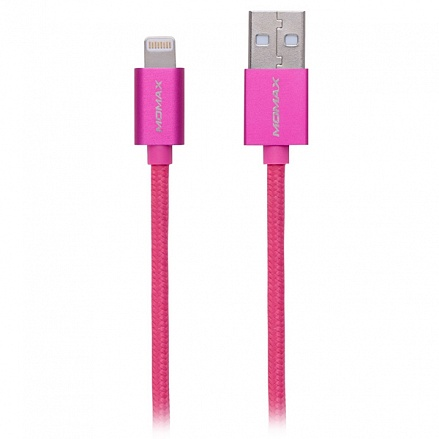 Кабель передачи данных Momax Lightning to USB MFI Elite Link для iPhone 5\6, iPad mini, iPad Air, iPad 4 1 м (розовый)