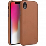 Кожаный чехол для Apple iPhone XR Uniq Duffle Vale Genuine leather Camel