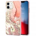 Чехол RF by Richmond & Finch для Apple iPhone 11 Pink Marble Gold