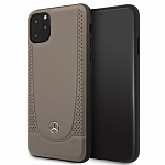 Чехол Mercedes Urban Smooth perforated Hard для Apple iPhone 11 Pro (бежевый)