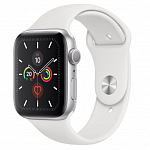 Apple Watch Series 5 40mm (Silver Aluminum Case with White Sport Band) MWV62