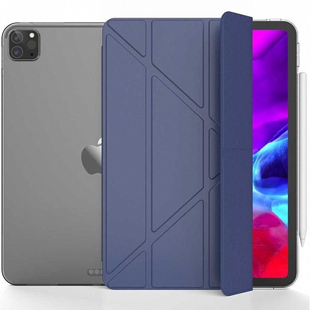 Чехол BoraSCO Tablet Case для Apple iPad Pro 12,9 2018\2020 (синий)