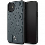 Чехол Mercedes Wave Quilted Hard Leather для Apple iPhone 11 (синий)
