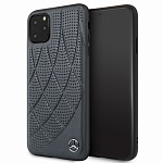 Чехол Mercedes Bow Quilted perforated Hard для Apple iPhone 11 Pro (синий)