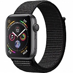 Apple Watch Series 4 GPS 44mm MU6E2 (Space Gray Aluminum Case with Black Loop Band)