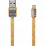 Кабель передачи данных Remax Lightning to USB RC044i Platinum cable 1.0м (gold)