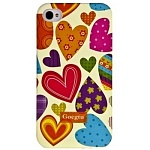 Чехол-накладка Goegtu для iPhone 4s/ iPhone 4 Hearts