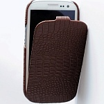 Кожаный чехол Borofone для Samsung Galaxy SIII i9300 (croco brown)