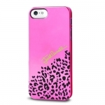 Чехол JUST CAVALLI для iPhone 5 Iridescent розовый
