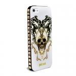 "Чехол JUST CAVALLI IPHONE 5 ""SKULL"" белый"