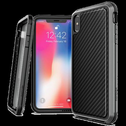 0f2c65edf Противоударный чехол для iPhone XS Max X-Doria Defense Lux Black carbon