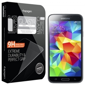 "Защитная пленка для Samsung Galaxy S5 i9600 Spigen SGP Oleophobic Coated Tempered Glass ""Glas.tR SLIM"""