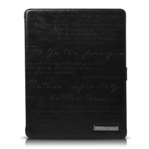 Кожаный чехол для Apple iPad 2\3\4 Zenus Masstige Lettering Diary Series (black)