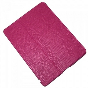 Чехол для Apple iPad2\3\4 IHUG Crocodile dark pink