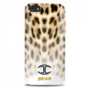 "Чехол для iPhone 5 JUST CAVALLI ""MICRO MACRO LEOPARD"" черный"