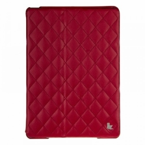 Чехол для iPad Air JisonCase QUILTED LEATHER SMART CASE красный