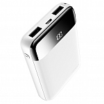 Внешний аккумулятор Rock Space P66 mini dig. display Power Bank 10000 mAh (white)