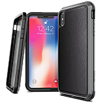 Противоударный чехол для iPhone XS Max X-Doria Defense Lux Black leather