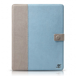 Кожаный чехол для Apple iPad 2\3\4 Zenus Masstige E-note Diary Series (blue)