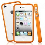 Бампер SGP Neo Hybrid 2S для iPhone 4\4S (orange)