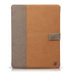Кожаный чехол для Apple iPad 2\3\4 Zenus Masstige E-note Diary Series (brown)