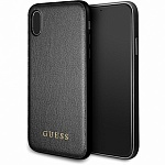 Чехол Guess для iPhone X Iridescent Hard PU Black