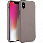 Кожаный чехол для iPhone XS Max Uniq Duffle Vale Genuine leather Beige