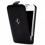 Кожаный чехол Ferrari Flip FF-Collection Black для iPhone 5, 5s FEFFFLP5BL
