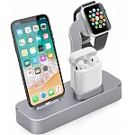 Док-станция для Apple iPhone\Apple Watch\AirPods COTEetCI Base19 (CS7201-GY) (Space Gray)