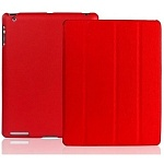 Jison Case Smart Leather Case red кожаный чехол для iPad 2\3\4