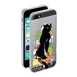 Чехол для Apple iPhone 5/5S Deppa Gel Art Animal Пантера
