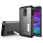 Чехол для Galaxy Note 4 Spigen Tough Armor Series стальной