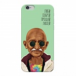 Чехол для Apple iPhone 6/6S Deppa Hipstory Махатма Ганди
