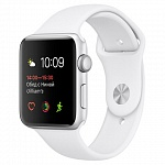Часы Apple Watch Series 2, 42mm MNPJ2RU/A Silver Aluminium Case with White Sport Band