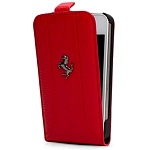 Кожаный чехол Ferrari FF-Collection Red Flip для iPhone 5, 5s FEFFFLP5RE