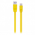 Кабель передачи данных Remax Lightning to USB Full Speed Cable Series 1м для iPhone 5\6, iPad mini, iPad Air, iPad 4 (желтый)