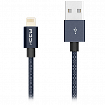 Кабель передачи данных Rock Lightning Metal charge & Sync Round Cable 20 cm black