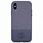 Чехол для iPhone XS Max Polo Club Santa Barbara Virtuoso Series (синий)