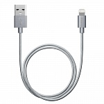 Дата-кабель USB-8-pin для Apple MFI Deppa серый 1.2м